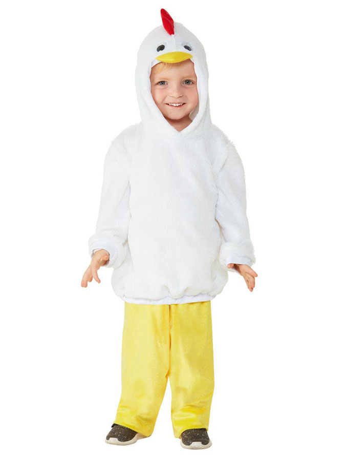 Vit Kycklingdräkt Barn (T1 (1-2år))
