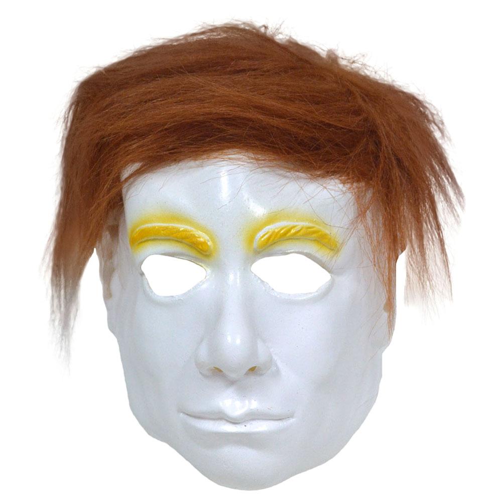 Vit Mask med Hår