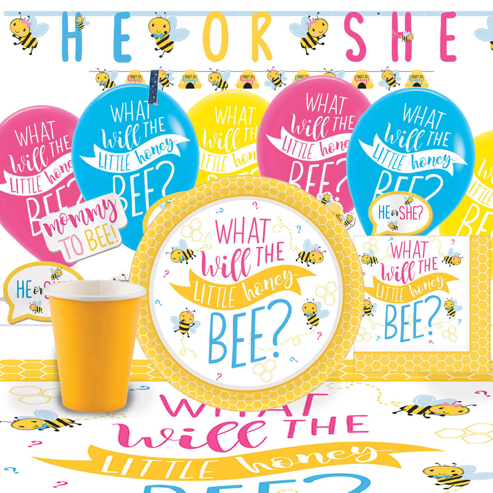 What Will It Bee Baby Shower Kit Deluxe 8 Pers
