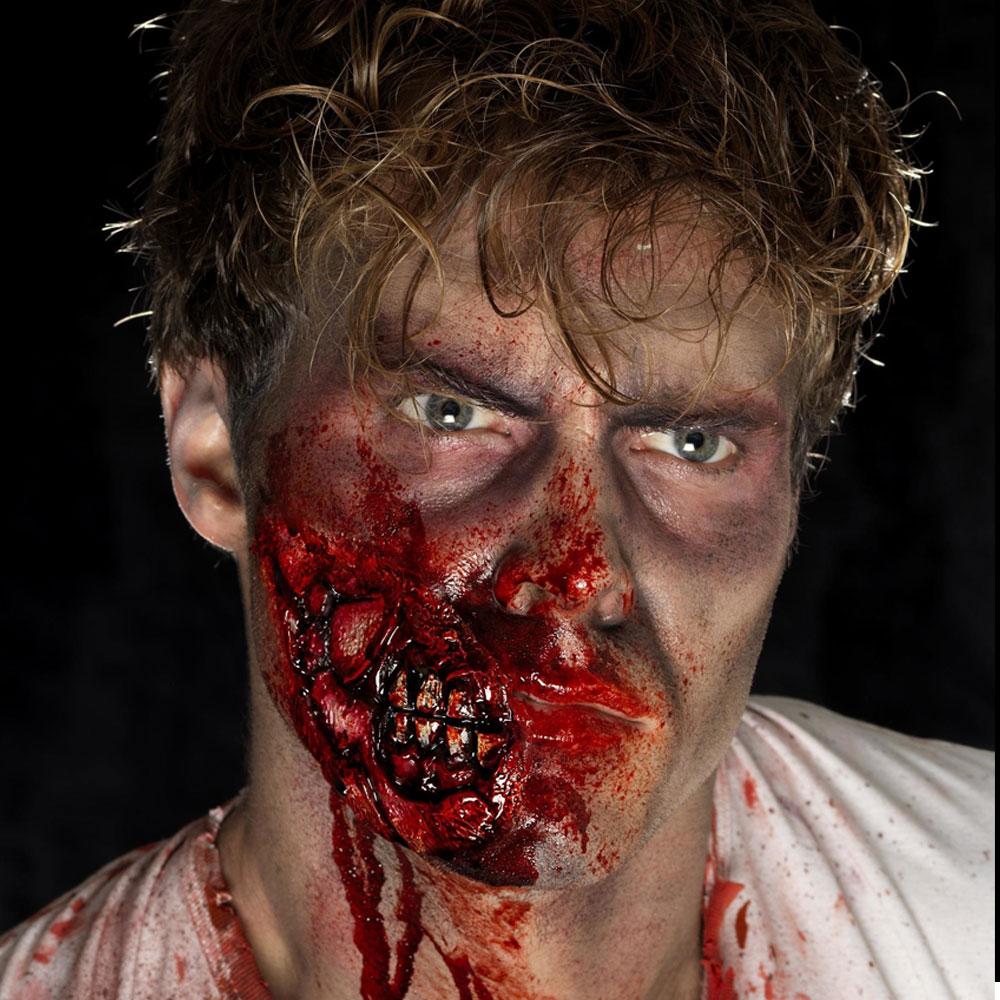 Zombie Käke Latexsår