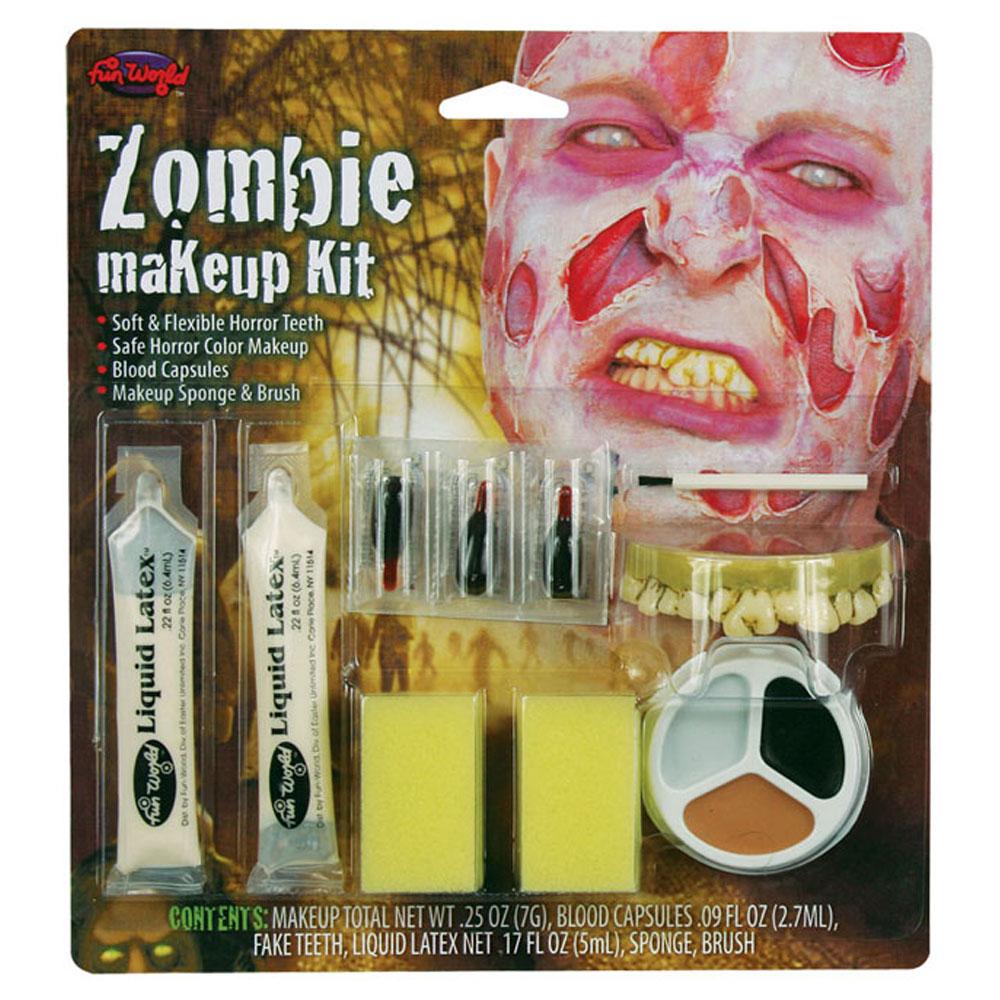 Zombie Smink Kit med Tänder